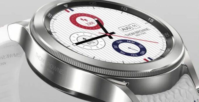 Galaxy Часы 4 выпускаются ограниченной серией Thom Browne с родиевым покрытием по цене 799 долларов 389