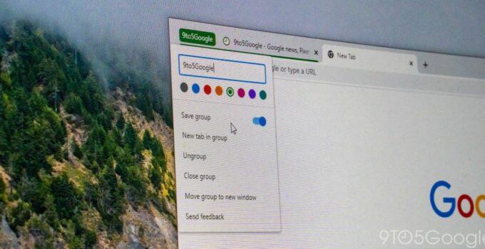 Google Chrome позволит вам сохранять группы вкладок, чтобы вам не приходилось создавать их заново. 283