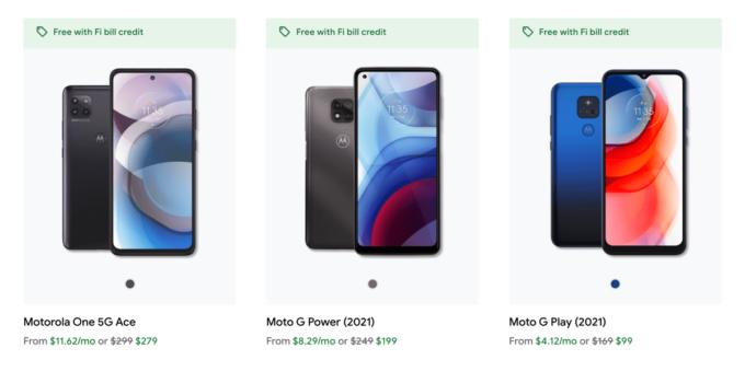 """Google Fi добавляет новые телефоны Motorola и запускает промо-план """"Безлимитный"""" 269"""
