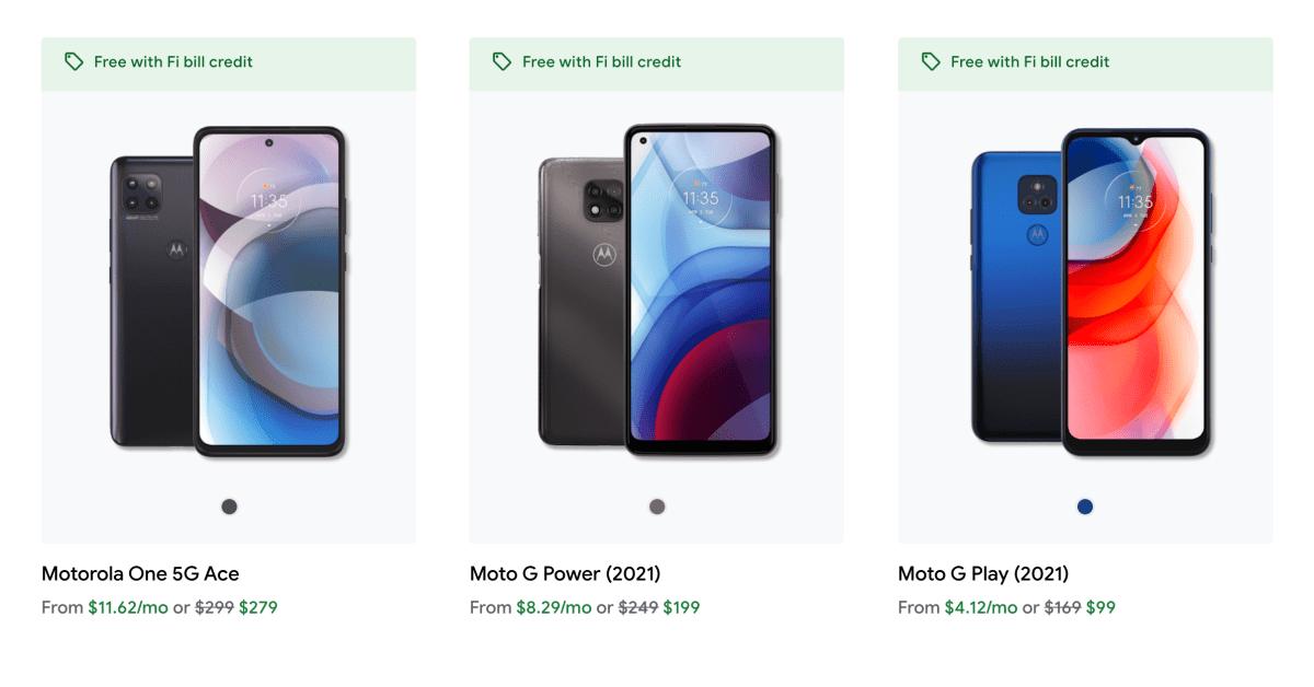 """Google Fi добавляет новые телефоны Motorola и запускает промо-план """"Безлимитный"""" 1"""