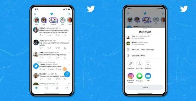 Share tweets on instagram stories