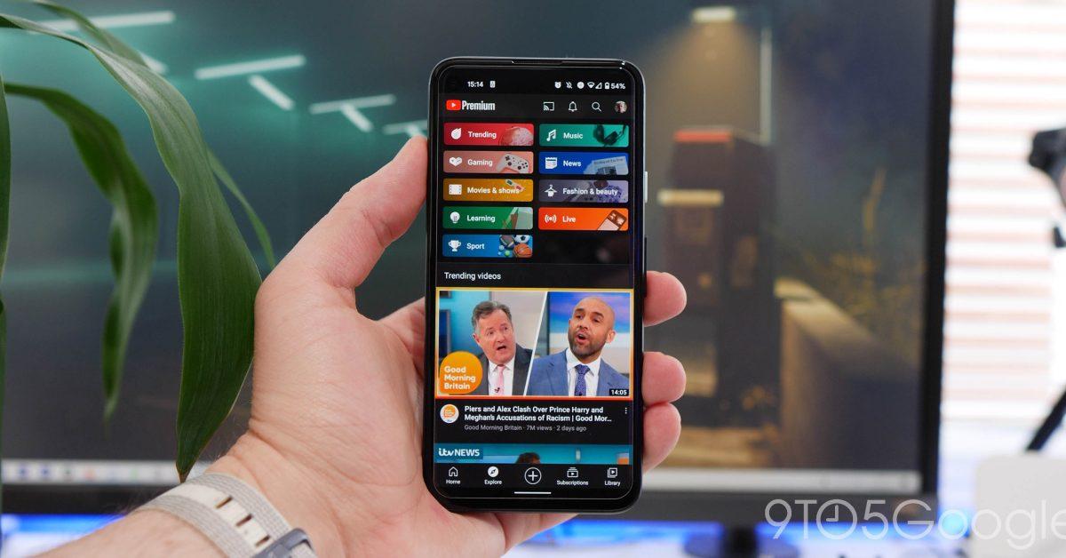 YouTube для мобильных устройств: новый жест перетаскивания для прокрутки видео 1