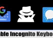 Как включить клавиатуру инкогнито в Signal Private Messenger