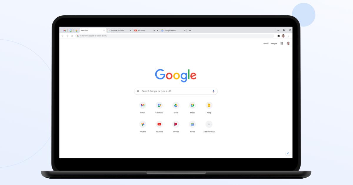 """Тестирование Chrome """"Путешествие"""", которое автоматически группирует посещенные сайты по темам, боковая панель поиска Chrome OS 1"""